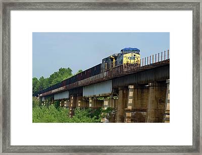 Framed Print featuring the photograph Coal Train On Bridge by Joseph C Hinson Photography