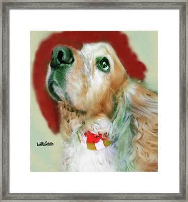 Cocker Spaniel Painting Framed Print
