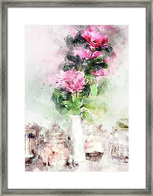 Coffee Shop In Florence Framed Print