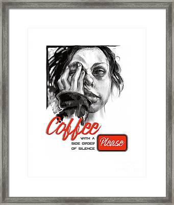 Coffee With A Side Framed Print