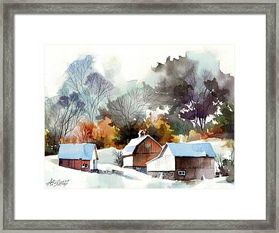 Cold Barns Framed Print by Art Scholz