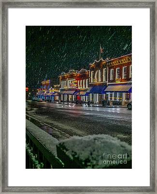 Cold Night In Cripple Creek Framed Print