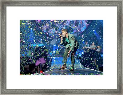 Coldplay Perform At Emirates Stadium In Framed Print by Neil Lupin