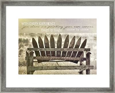 Collect Your Thoughts Quote Framed Print by JAMART Photography