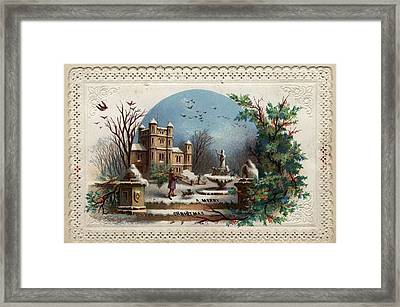 Collecting Holly Framed Print by Hulton Archive
