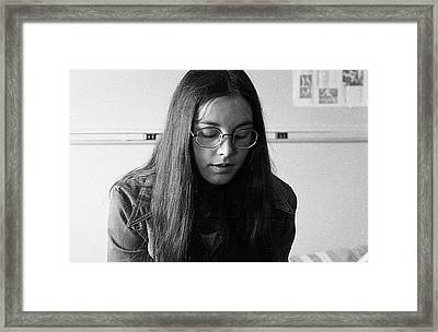 College Student With Octagonal Eyeglasses, 1972 Framed Print