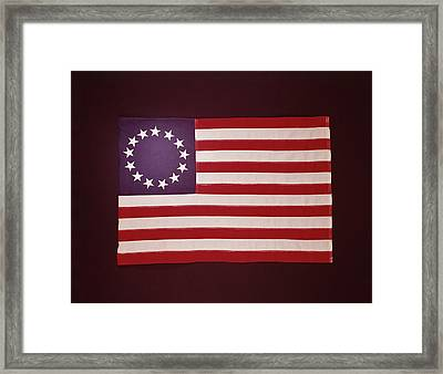 Colonial Us Flag Framed Print by H. Armstrong Roberts