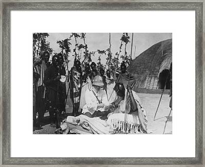Colonization Of Congo Framed Print by Hulton Archive