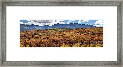 Framed Print featuring the photograph Colorado Autumn Panorama Colorful Bliss by James BO Insogna