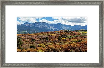 Framed Print featuring the photograph Colorado Painted Landscape Panorama Pt1 by James BO Insogna