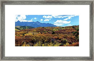 Framed Print featuring the photograph Colorado Painted Landscape Panorama Pt2 by James BO Insogna