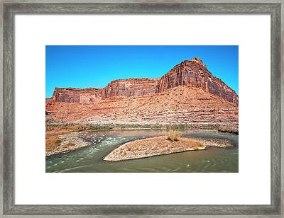 Framed Print featuring the photograph Colorado River At Salt Wash by Andy Crawford