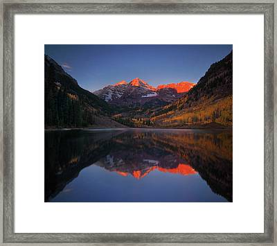 Colorado Sunrise Framed Print by Piriya Photography