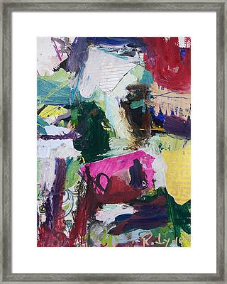 Colorful Abstract Cow Painting Framed Print