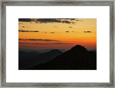 Evening At Mount Evans Framed Print