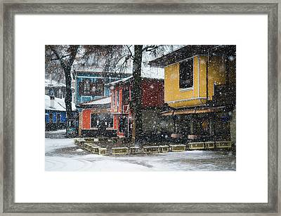 Colorful Koprivshtica Houses In Winter Framed Print