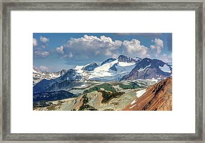 Framed Print featuring the photograph Colorful Mountain Peaks by Pierre Leclerc Photography