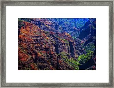 Colorful Mountains Of Kauai Framed Print