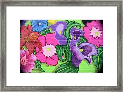 Colorful Mural Framed Print