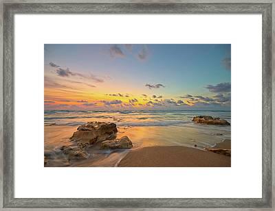 Colorful Seascape Framed Print