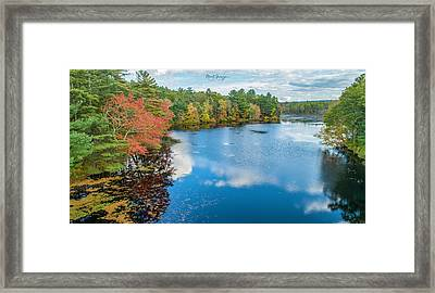 Framed Print featuring the photograph Colors Of Cady Pond by Michael Hughes