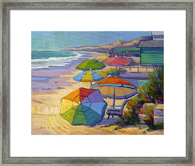 Colors Of Crystal Cove Framed Print