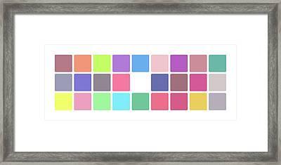 Colour Alphabet Lower Framed Print