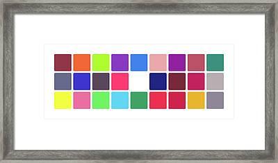 Colour Alphabet Upper Framed Print