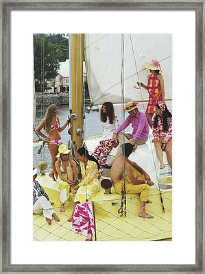 Colourful Crew Framed Print by Slim Aarons