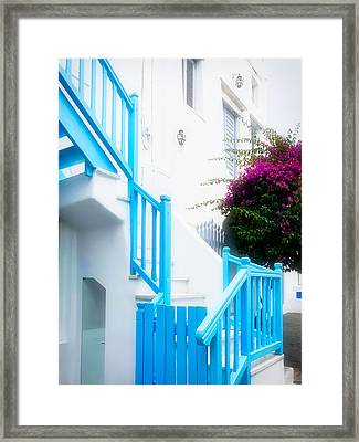 Colours Of Mykonos Framed Print