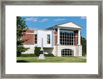 Columbia County Main Library - Evans Ga Framed Print
