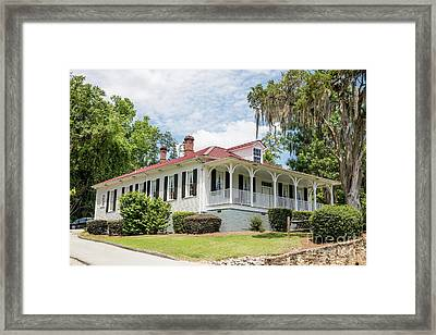 Columbia County Visitors Center - Savannah Rapids Framed Print
