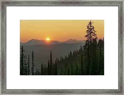 Columbia Mountain Sunset Framed Print