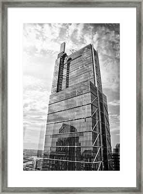 Framed Print featuring the photograph Comcast Technology Center - Philadelphia In Black And White by Bill Cannon