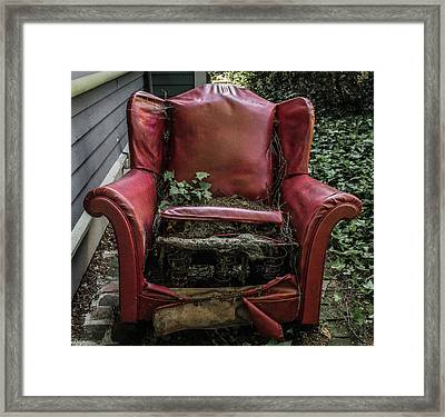 Comfy Chair Framed Print