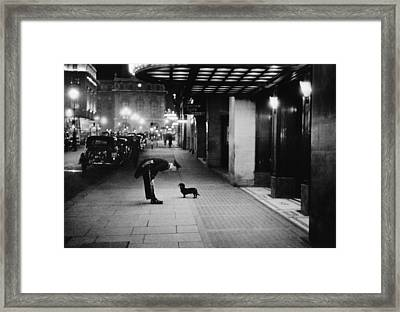 Commissionaires Dog Framed Print by Kurt Hutton