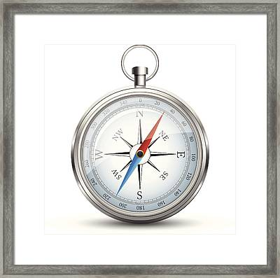 Compass Framed Print by Booka1