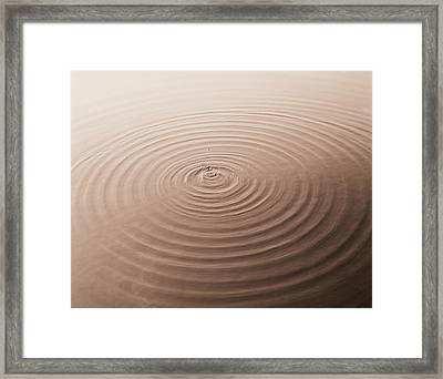 Concentric Rings On Water Framed Print by H. Armstrong Roberts