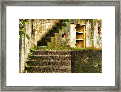 Concrete Weathered Stairway Framed Print
