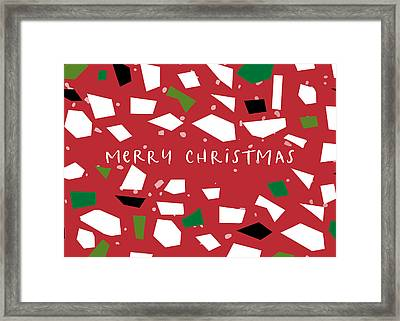 Framed Print featuring the digital art Confetti Christmas- Art By Linda Woods by Linda Woods