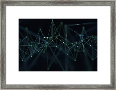 Connecting Lines, Illustration Framed Print by Ktsdesign/science Photo Library