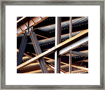 Construction Abstract Fragments Framed Print