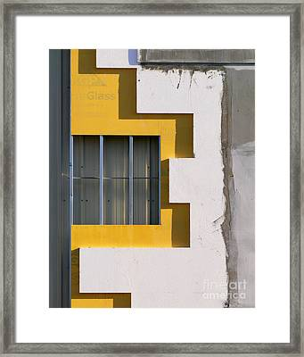 Construction Abstract Framed Print