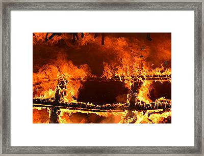 Framed Print featuring the photograph Consumed by Carl Young