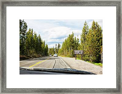 Framed Print featuring the photograph Continental Divide In Yellowstone National Park by Tatiana Travelways