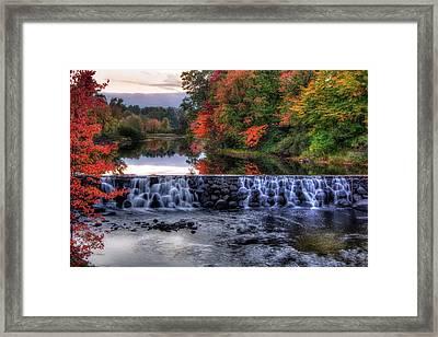 Contoocook River Reservoir  Framed Print by Joann Vitali