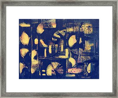 Framed Print featuring the painting Contraption by 'REA' Gallery
