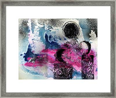 Framed Print featuring the painting Convergence  by 'REA' Gallery
