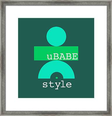 Cool Green Style Framed Print