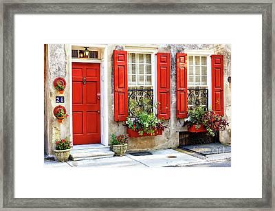 Coordinated On Queen Street Charleston Framed Print